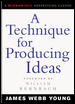 A Technique for Producing Ideas By Young, James Webb